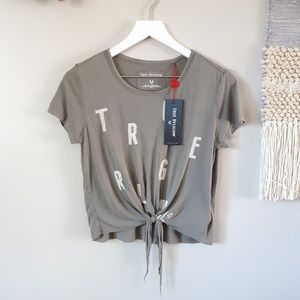 True Religion | Tie Front Graphic Tee Modal Shirt